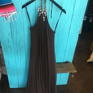 Sky maxi dress with crystals new with tags